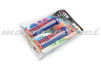 Ручки руля (грипсы) DBS (mod:1, сине-красные) (#YMBT)