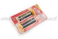 Ручки руля (грипсы) Yamaha (черно-желтые)