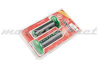 Ручки руля (грипсы) Yamaha (черно-зеленые)