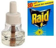 Жидкость Raid  от комаров 30 ночей эвкалипт (без коробки)
