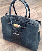 Стильная женская сумка Givenchy с вставкой из крокодиловой кожи