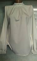 Женская нарядная блузка ворот - стойка