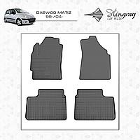 Коврики резиновые в салон Daewoo Matiz c 1998- (4шт) Stingray 1005024
