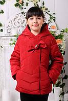 Куртка  демисезонная для девочек весна-осень, синтепон, размеры 32