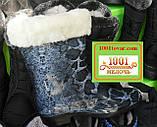 Гумові жіночі чобітки зі знімним утеплювачем, на невеликому каблучку, фото 2