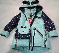 Весна осень куртка-парка с сумочкой в комплекте р.98-122  для девочек 2-8 лет разные цвета