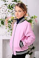 Куртка из искусственной эко-кожи для девочек весна-осень,  размеры 34,36,38,40