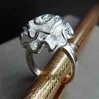 Кольцо с белой позолотой