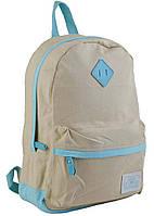 """Модный рюкзак из хлопковой ткани """"Beige"""" от компании  Yes"""