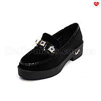 Женские велюровые туфли с камнями