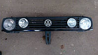 Решетка радиатора VW Golf 2 / Фольксваген Гольф 2 (панель передняя) на 4 фары в сборе , фото 1