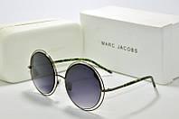 Солнцезащитные очки круглые Marc Jacobs черные, фото 1