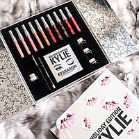 Набор косметики Kylie Holiday Big Box (палитра матовых помад, тени для век, подводка)