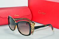 Солнцезащитные очки прямоугольные Cartier черные