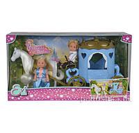 Кукольный набор Эви и Тимми Карета принцессы с лошадью Steffi & Evi Love 5738516