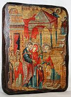 """Икона под старину """"Введение во храм Пресвятой Богородицы"""""""