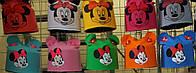 Шапки детские весенние Микки Маус с ушками от 1 года до взрослых размеров