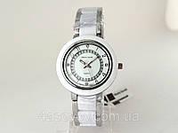 Часы женские Alberto Kavalli серебристый корпус, белый ободок, фото 1