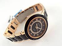 Часы женские Alberto Kavalli золотистый браслет с черными вставками, фото 1