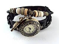 Женские часы Hand Made на кожаном ремешке с совой, фото 1