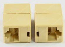 Купить Сгонка удлинитель RJ45 коннектор. Cоединительный модуль rj45. Сгонка для соединения rj45. Розетка rj45 (100шт)