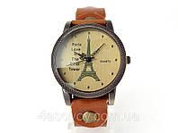 Женские часы Paris светло коричневый ремешок, фото 1