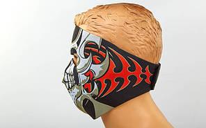 Маска лицевая ветрозащитная Tribal Skull неопрен MS-4344-4, фото 2