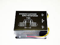 Преобразователь напряжения 24-12В. Номинальный ток 15А. Высокое качество. Практичный инвертор. Код: КДН1530