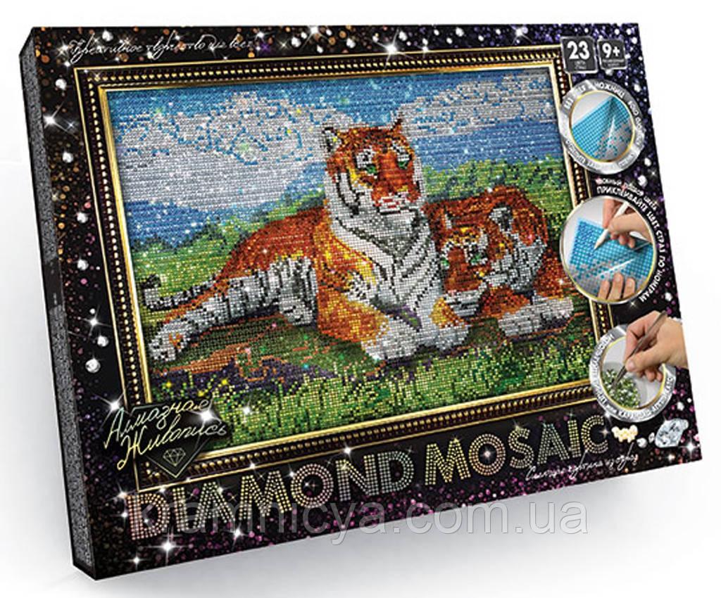 Алмазная живопись большая, Тигры (DM-01-07)