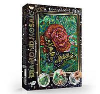 Алмазная живопись Роза с бабочкой (DM-02-08)