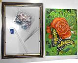 Алмазная живопись Роза с бабочкой (DM-02-08), фото 5