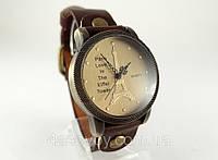 Женские часы Paris  коричневый ремешок, фото 1
