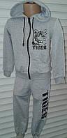 Детские спортивные костюмы с тигром двунитка 2-6 лет мальчикам и девочкам Р.92-116