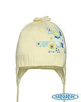 Весенняя светлая шапочка на завязочках для девочек, BARBARAS (Польша)