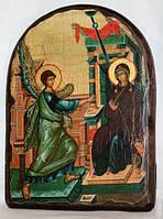 """Икона под старину """"Благовещение Пресвятой Богородицы"""" арка"""