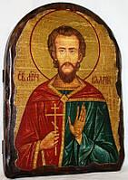 """Икона под старину """"Валерий святой"""" арка"""