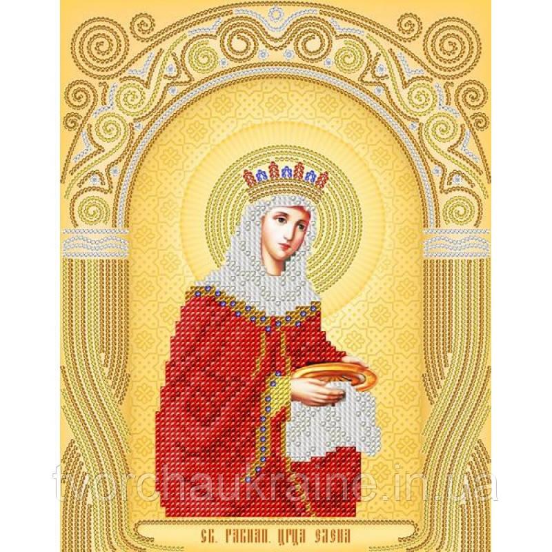 Схема на ткани для вышивания бисером Св. Равноап. Царица Елена