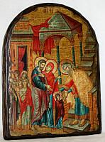 """Икона под старину """"Введение во храм Пресвятой Богородицы"""" арка"""