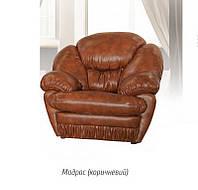 """Кресло """"Магнат"""" Кожзаменитель - Мадрас(коричневый, бежевый) 110х115х110 см."""