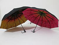 Женский зонт полуавтомат двухсторонний с двойной тканью