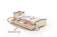 """Детская деревянная кровать """"Феи в облаках"""" с ящиком (90x190 см) ТМ Вальтер-С Венге - Яблоня KY-5.1/2.09V2"""
