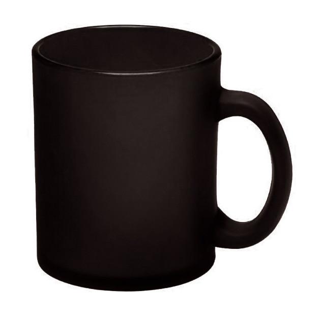 Кружка Лавиния Фрост стеклянная 340 мл, черная, от 10 шт