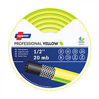 Шланг поливочний жовтий 3-слойний армований, надміцний Agaplast 1/2 (30 м)