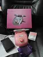 Профессиональный фрезер для маникюра - 35 000 оборотов в минуту, мощность 60 Вт. Nail Master ZS-603. Розовый., фото 1