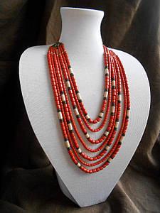 """Ожерелье из керамики """"Вышиванка"""""""