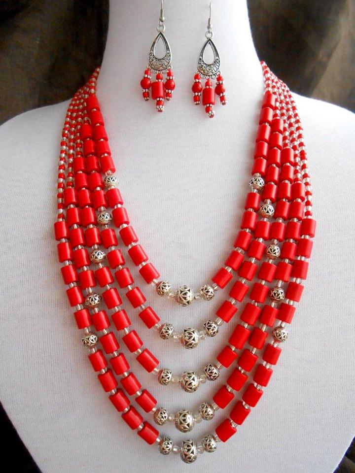 Ожерелье из натурального коралла - ФолкМаркет в Луцке