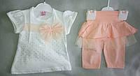 Детский летний костюм для девочек 2-5 лет