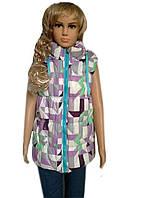 Жилетка для девочки со съемным капюшоном, фото 1