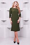 Платье с перфорацией Анюта оливка, фото 5