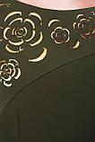 Платье с перфорацией Анюта оливка, фото 2